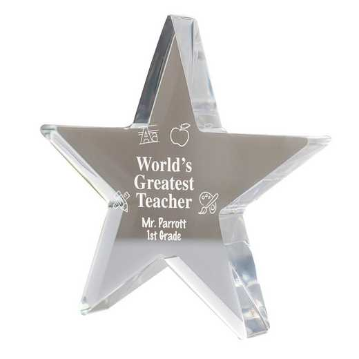 330257: PGS Engraved Teacher Star Keepsake