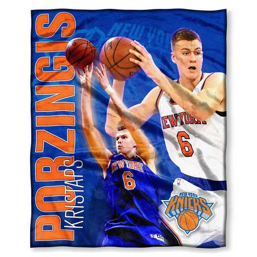 1PLY575002030RET: NW NBA 575 Knicks - Kristaps Porzingis Silk Touch Throw
