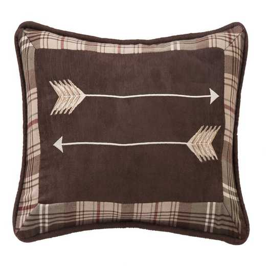 NL1731P3: HEA Huntsman Embroidered Arrow Pillow 12x19