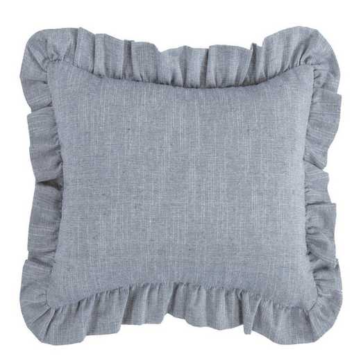 FB1751P1: HEA Chambray Ruffled Pillow