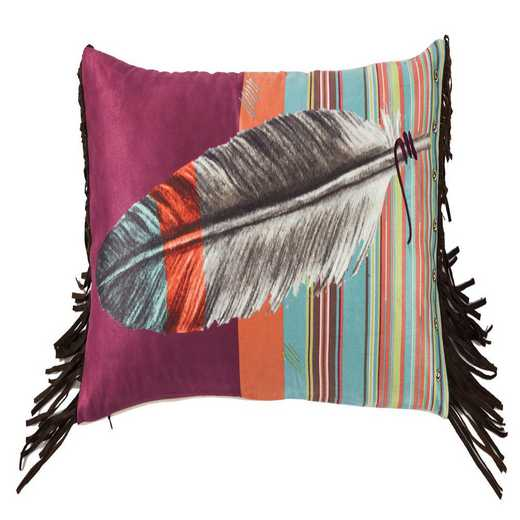 WS1753P6: HEA Feather Pillow with Embroidery Details 24x12