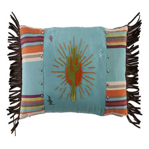 WS1753P7: HEA Sunburst Pillow with Embroidery Details