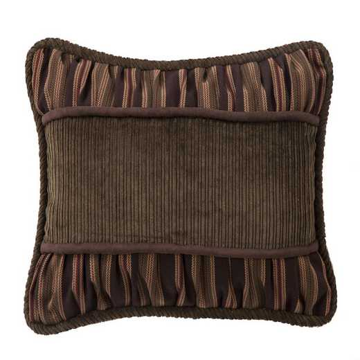 NL1733P3: HEA Forest PineCorduroy Pillow with Rouching - 14x20