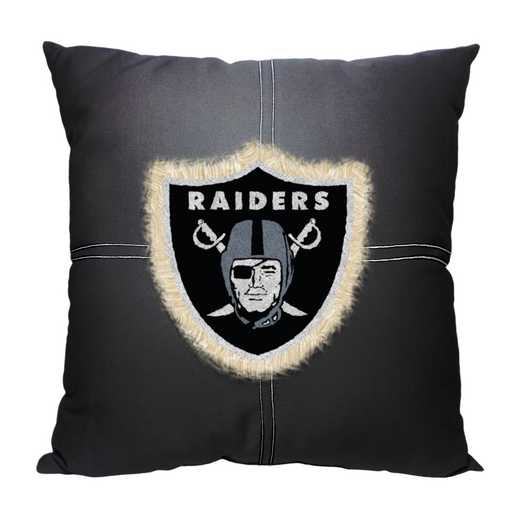 1NFL142000019RET: NW NFL Raiders Letterman Pillow