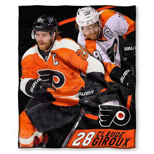 1PLY575003009RET: NHL 575 Flyers - Claude Giroux Silk Touch Throw