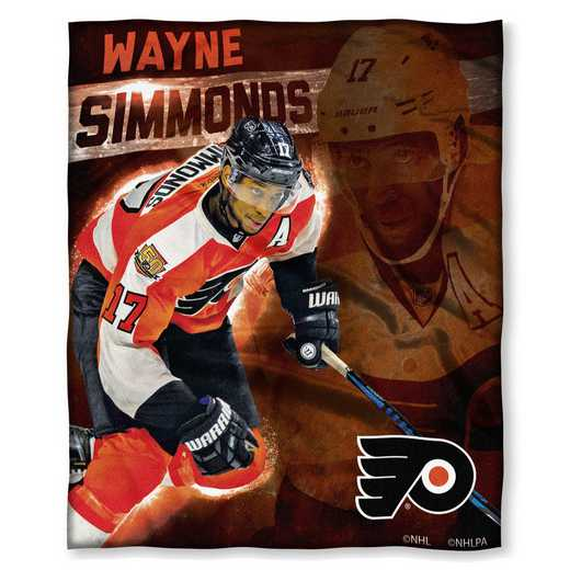 1PLY575003035RET  : NHL 575 Flyers - Wayne Simmonds Silk Touch Throw