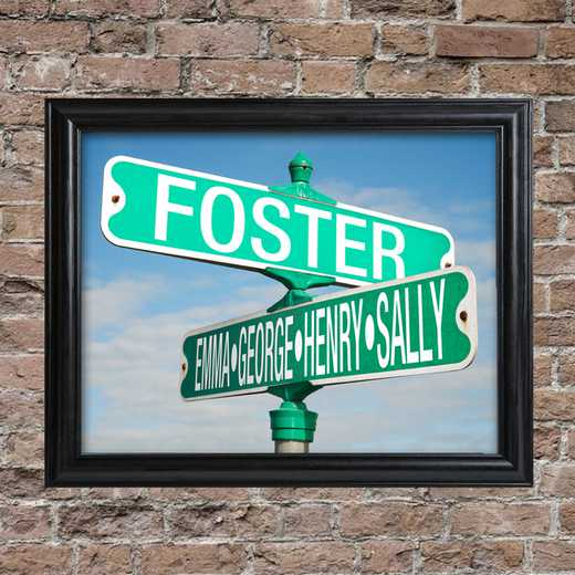 GC1450: JDS COLOR INTERSECTION SIGN FRAMED-PERS
