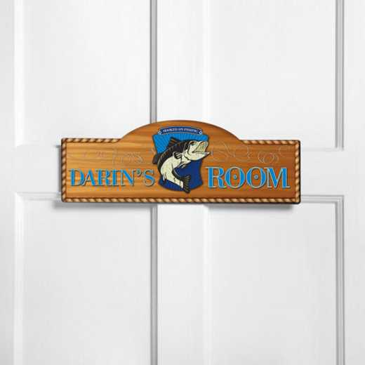 GC749 GONEFISHIN: JDS THEMED ROOM SIGN GONE FISHIN-PERS