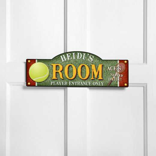 GC749 TENNIS: JDS THEMED ROOM SIGN TENNIS-PERS