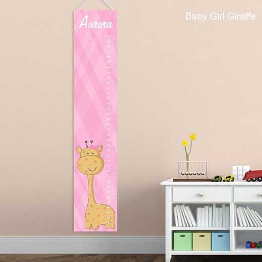 GC925 B GIRL G: JDS BABY GIRL GIRAFFE GROWTH CHART-PERS