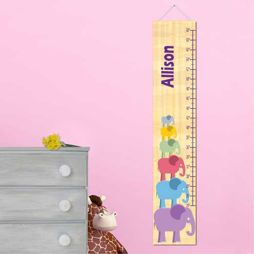 GC925 EGIRLSTACK: JDS GIRL ELEPHANT STACKING GROWTH CHART -PERS