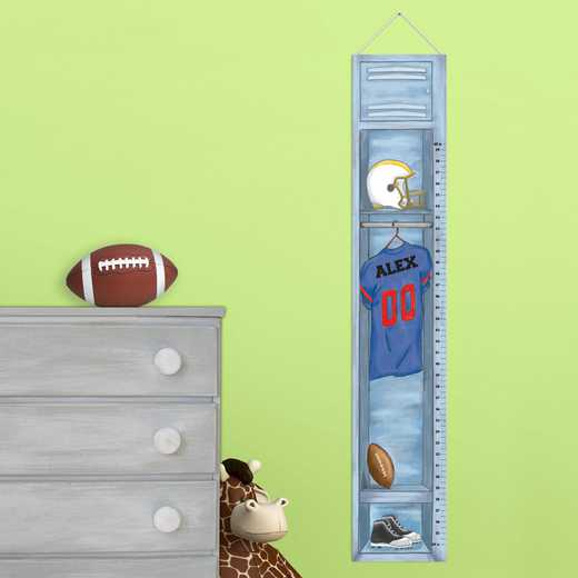 GC925 FBALLLOCKR: JDS FOOTBALL LOCKER GROWTH CHART-PERS