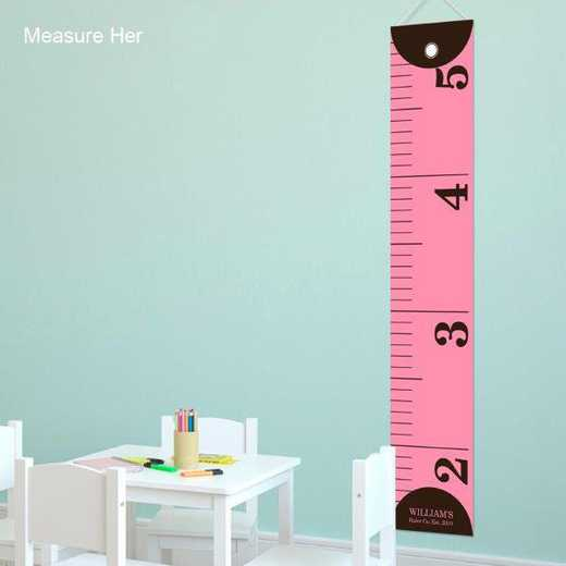 GC925 MEASUREHER: JDS PINK RULER HEIGHT CHART-PERS