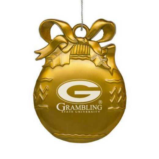 4022-GLD-GRAMBST-L1-IND: LXG BULB ORN GOLD, Grambling State