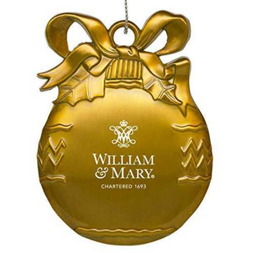 4022-GLD-WILLMRY-L1-IND: LXG BULB ORN GOLD, William & Mary
