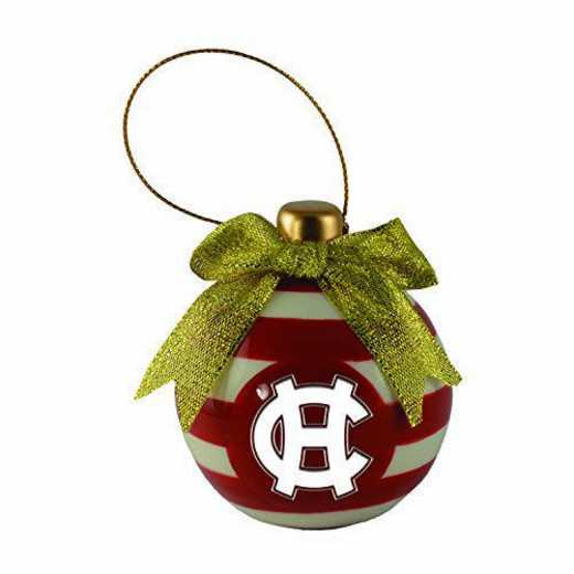 CER-4022-HLYCROSS-LRG: LXG CERAMIC BALL ORN, Holy Cross