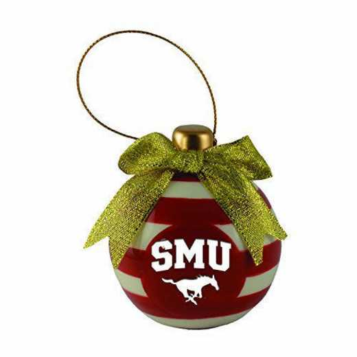 CER-4022-SMU-LRG: LXG CERAMIC BALL ORN, Southern Methodist