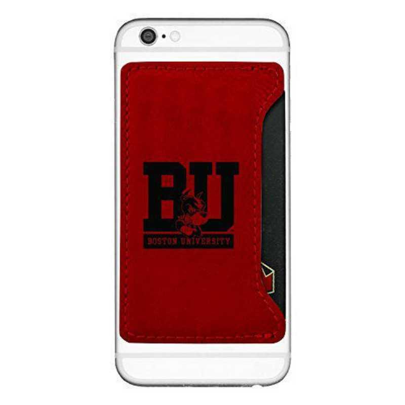 Cell Phone Card Holder >> Boston University Cell Phone Card Holder Red