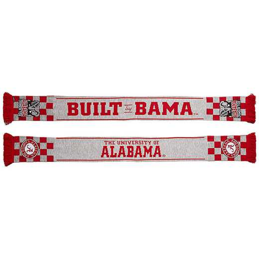 NCAA-ALA-CHK: ALABAMA CRIMSON TIDE - BUILT BY BAMA SCARF