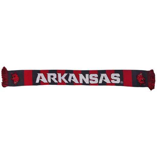 NCAA-ARK-BAR: ARKANSAS RAZORBACKS - BAR SCARF