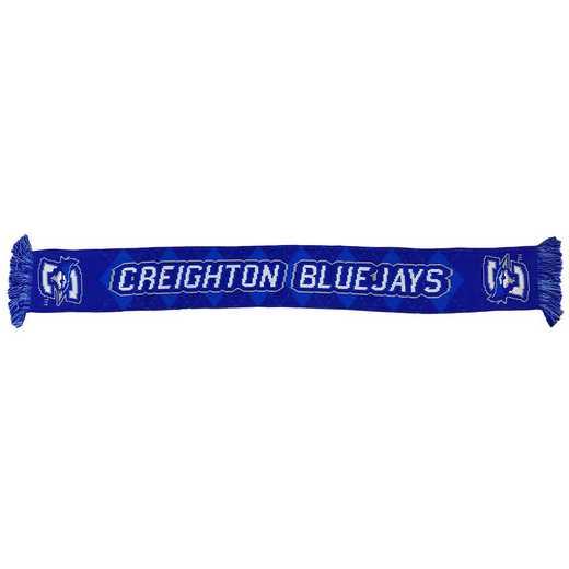 NCAA-CRE-BARG: CREIGHTON BLUEJAYS - BAR ARGYLE SCARF