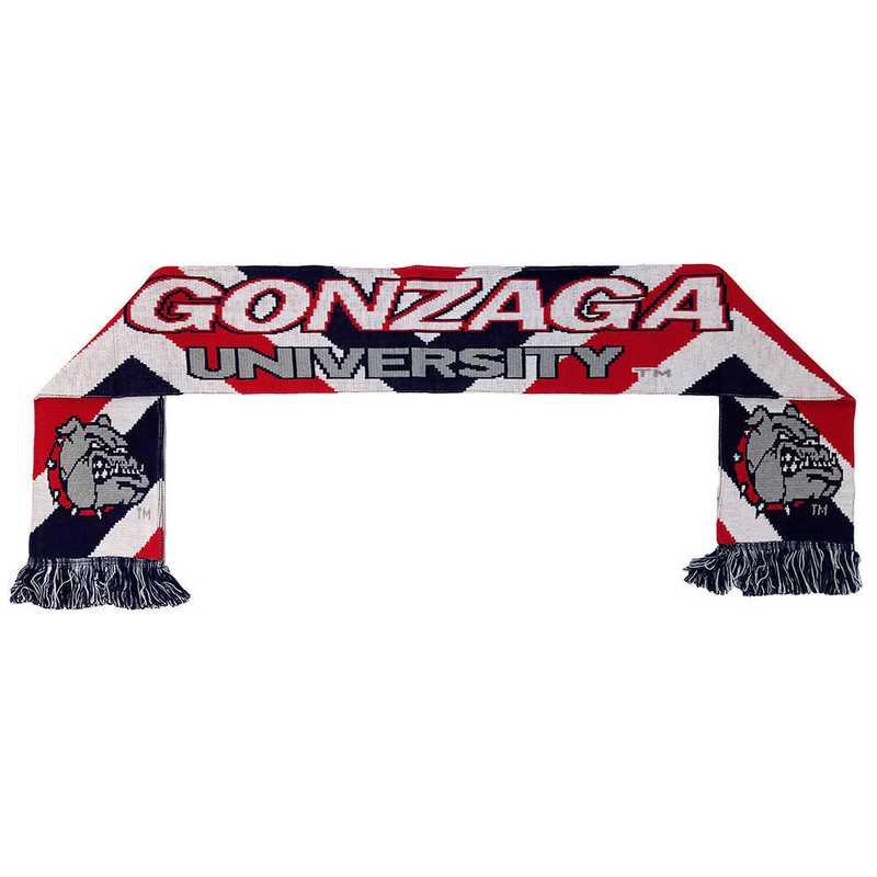 2b7733d93e67 GONZAGA UNIVERSITY - ZAGS BULLDOGS JACQUARD KNIT SCARF