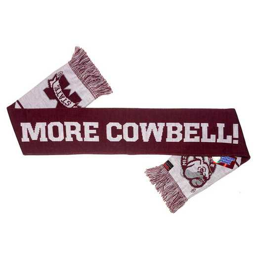 NCAA-MSU-COWBELL: MISSISSIPPI STATE - MORE COWBELL SCARF