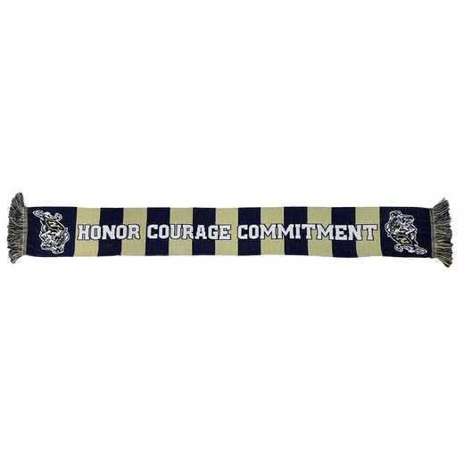 NCAA-NAVY-BAR: NAVY - BLUE AND GOLD BARS SCARF