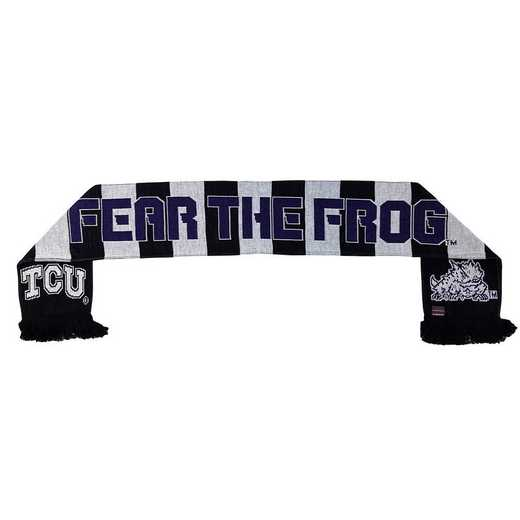 NCAA-TCU-FEAR: TCU - FEAR THE FROG SCARF