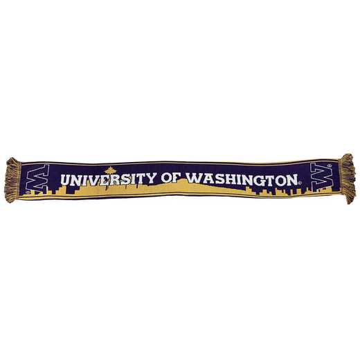 NCAA-UWH-SKY: UW HUSKIES - SEATTLE SKYLINE SCARF