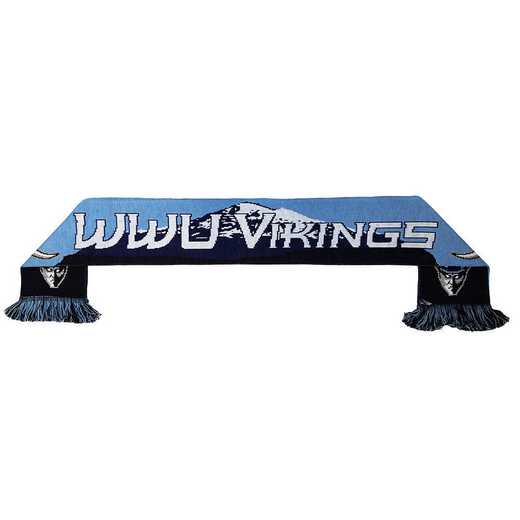 NCAA-WWU-BAKER: WWU VIKINGS - MT. BAKER SCARF