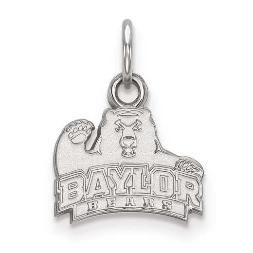 SS001BU: SS LogoArt Baylor University XS Pendant