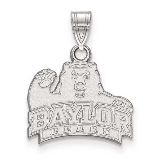 SS002BU: SS LogoArt Baylor University Small Pendant