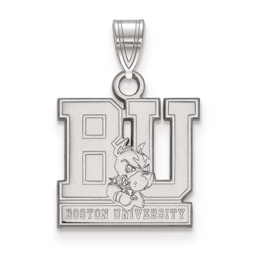 SS001BOU: SS LogoArt Boston University Small Pendant