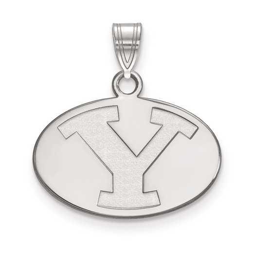 SS001BYU: SS LogoArt Brigham Young University Small Pendant