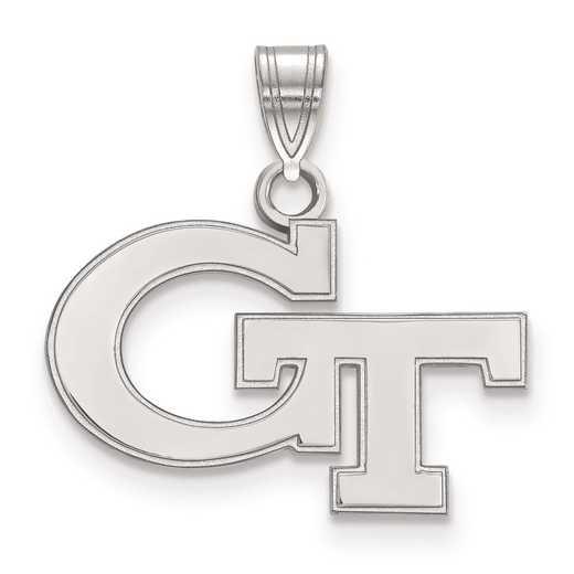SS002GT: SS LogoArt Georgia Institute of Technology Small Pendant