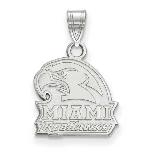 SS020MU: SS LogoArt Miami University Small Pendant