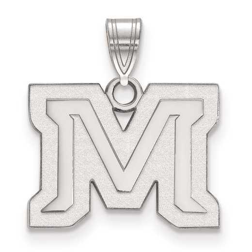 SS016MTU: SS LogoArt Montana State University Small Pendant