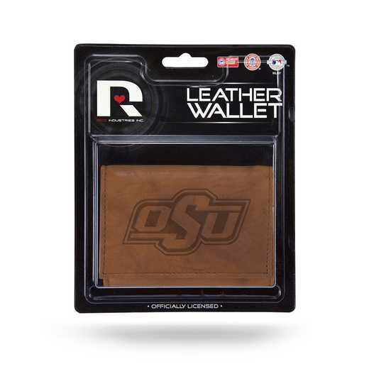 MTR230005: OKLAHOMA STATE LEATHER/MANMADE TRIFOLD