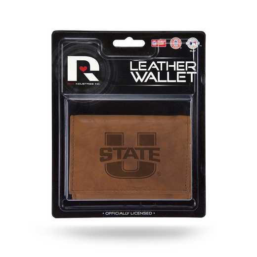 MTR530206: UTAH STATE LEATHER/MANMADE TRIFOLD