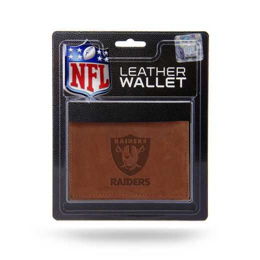 MTR1705: OAKLAND RAIDERS LTHR/MANMADE TRIFOLD