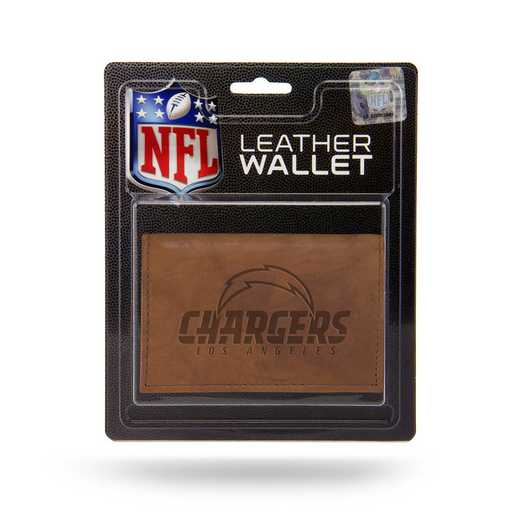 MTR3406: LOS ANGELES CHARGERS LTHR/MANMADE TRIFOLD
