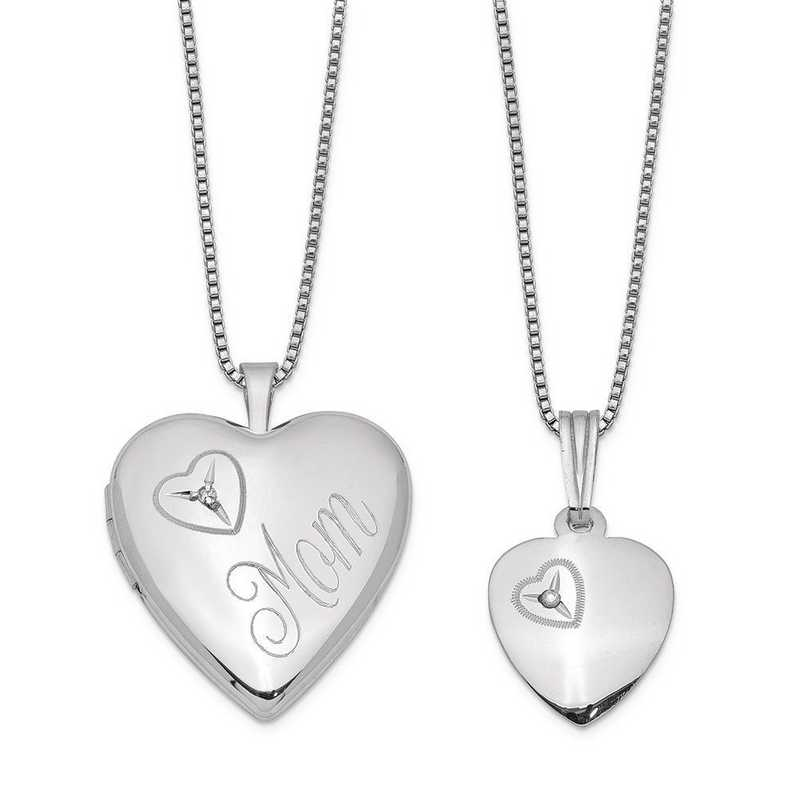 b952596909f Sterling Silver Rhodium-plated Diamond Polished Heart Locket and ...