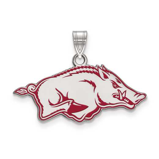 SS030UAR: S S LogoArt University of Arkansas Medium Enamel Pend