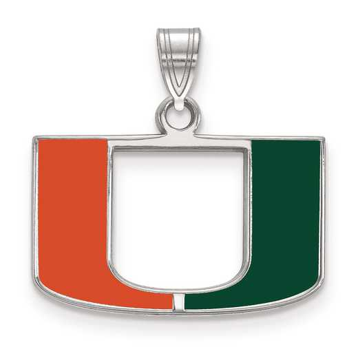 SS031UMF: S S LogoArt University of Miami Small Enamel Pend