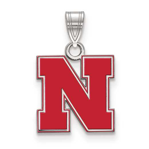 SS091UNE: S S LogoArt University of Nebraska Small Enamel Pend