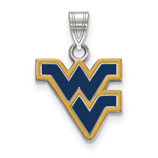 SS031WVU: S S LogoArt West Virginia University Small Enamel Pend