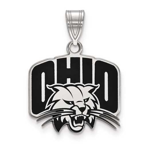 SS016OU: S S LogoArt Ohio University Medium Enamel Pend