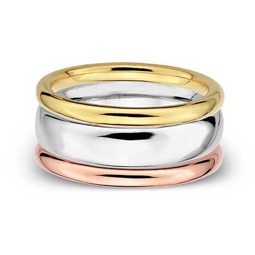 Sterling Silver Stackable Fancy Fun Ring Set