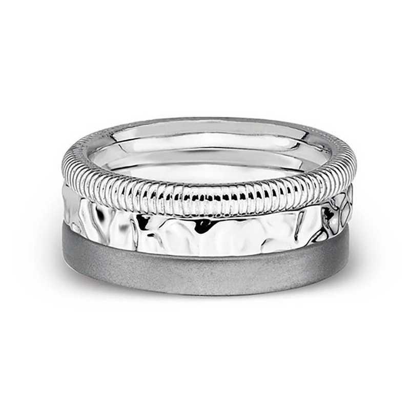 430e6e7e72c64 Sterling Silver Stackable Faith Hope Love Ring Set